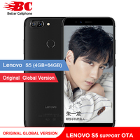 Original Global Version Lenovo S5 K520 K520T Phone OTA 4GB RAM 64GB ROM Snapdragon 625 Octa Core ZUI 3.7 Android 8.0 Face ID