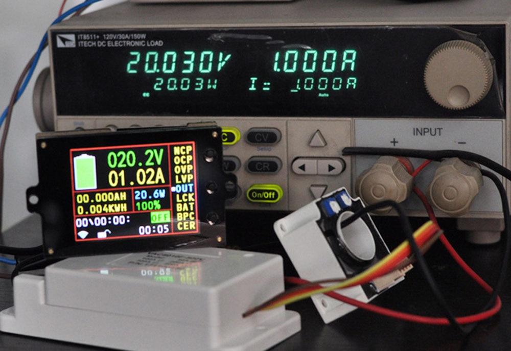 Batterie moniteur compteur DC 120 V 100A sans fil voltmètre numérique ampèremètre température puissance Watt capacité détecteur charge décharge