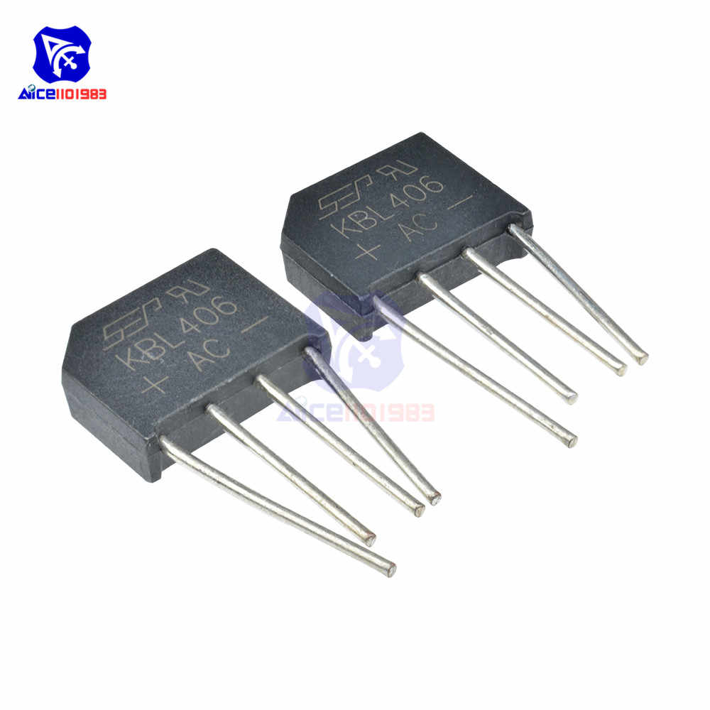 5 Teile/los Bridge Rectifier Diode KBL406 SIP-4 4A 600V Single Phase Bridge Rectifier Ursprüngliche Integrated Circuit