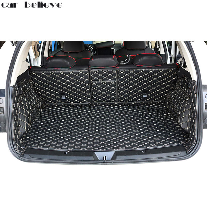 Car Believe customize car trunk mat For Subaru XV 2018 forester outback tribeca legacy Cargo Liner Interior Accessories