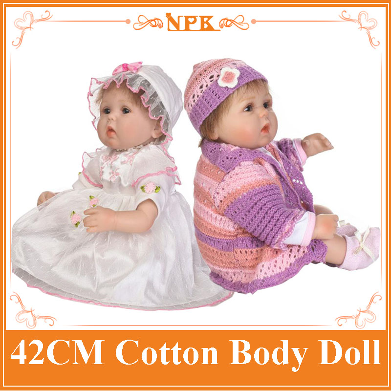 17inch NPK Soft Silicone Newborn Babies Dolls Lifelike Vinyl Lovely Reborn Bebe Toys For Baby Kids As Girls Birthday Gift Boneca hot sale 2016 npk 22 inch reborn baby doll lovely soft silicone newborn girl dolls as birthday christmas gifts free pacifier