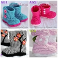 Retail Crochet Baby Boots Walking Shoes size 0-12M
