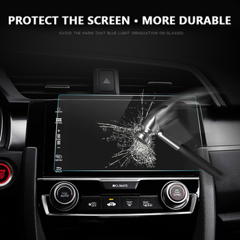 Vehemo Car Tempered Glass For Car GPS MP5 Video Player Screen Protector Film Premium 9 Inchs 198x112mm DVD Guard LCD Monitor image