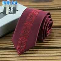 Узкие галстуки для мужчин 6 см позиционирование жаккардовые полосы полиэстер Gravata Kravat свадебные бизнес знакомства банк галстук-бабочка
