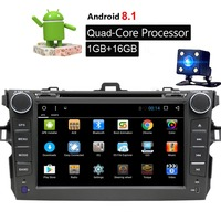 Android 9.1 Car Multimedia DVD Player For for Toyota Corolla 2007 2011 8 inch 2 Din Car Radio Stereo GPS Navigation WIFI+Camera