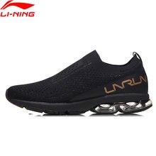 Li-Ning Women BUBBLE ARC Running Shoes LI-NING ARC Cushion Sneakers Mono Yarn Breathable LiNing Sport Shoes ARHN034 XYP690