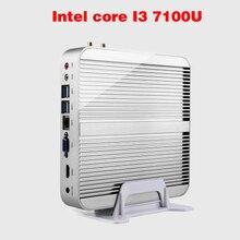 Мини-ПК Intel 7e Gen Кабы Lac Windows 10 i3 Безвентиляторный 7100U Ordinateur 4 К HD Graphics 620 300 М Wi-Fi HDMI TV Box Бесплатная Доставка