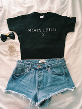 OKOUFEN MOON CHILD T-Shirt fashion hipster cool Top Tumblr Tees Women summer graphic High Quality cotton clothing Hip Hop shirts(China)