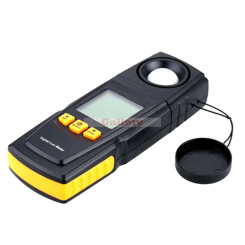 Photometer with Lcd Backlight Digital Light Meter 200000 Lux Handheld Illuminance Measure Tester Gm1020 new lcd digital lcd frequency counter meter herz tester cymometer 10hz 199 9hz blue backlight