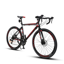 Cyrusher XC760 Road Bike 700C*52cm Aluminum Alloy frame Cycling Disc Drake 14 speed Racing Bicycle US Warehouse