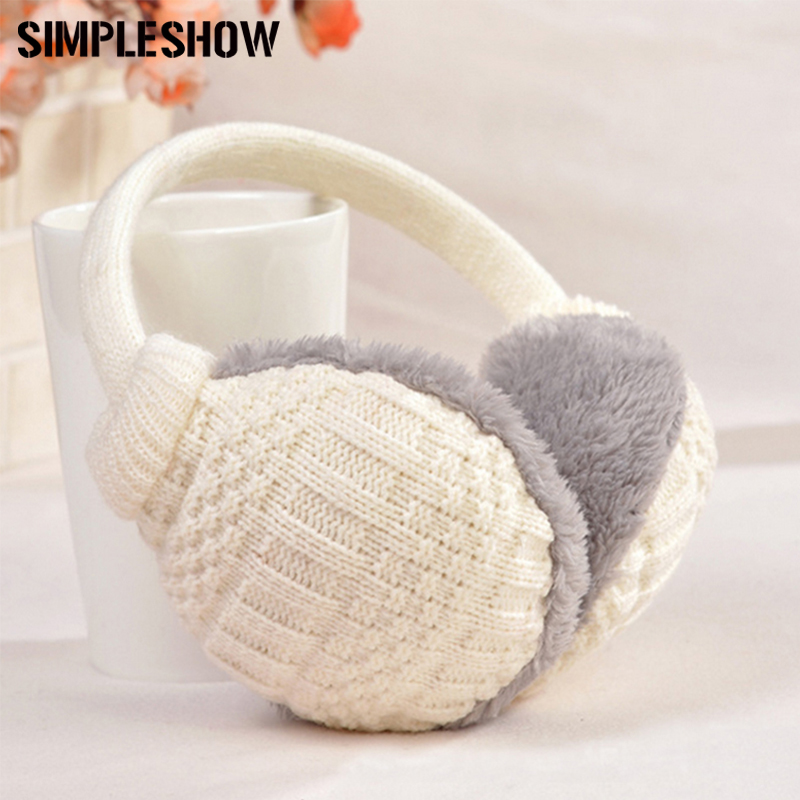 2019 Winter Warm Earmuffs Knitted Children Ear Muffs For Boy Earmuffs For Girls Baby Gift Ear Warmers Chills And Pains Apparel Accessories