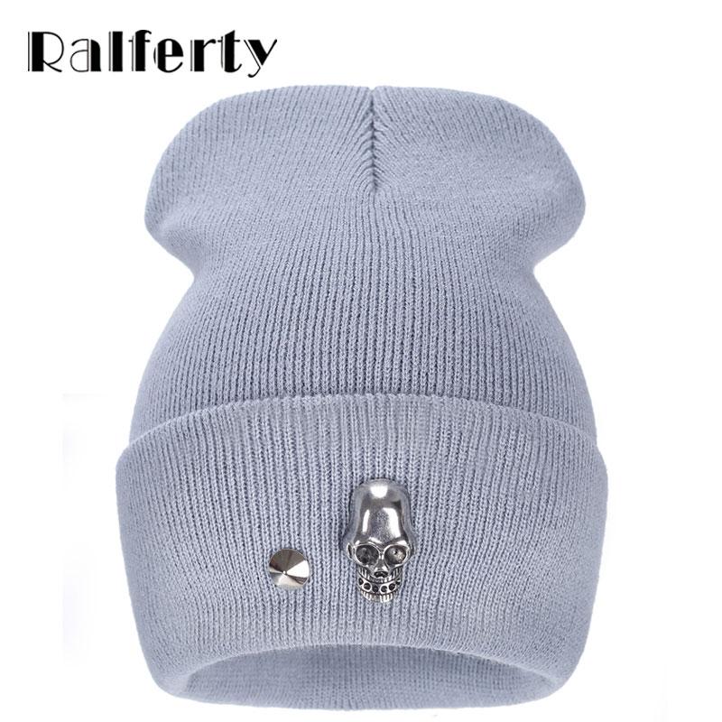 Ralferty Hats for men fashion Knitting Wool Acrylic Skullies and Beanies keep warm Hip Hop autun and winter  Hats Bonnets caps skullies