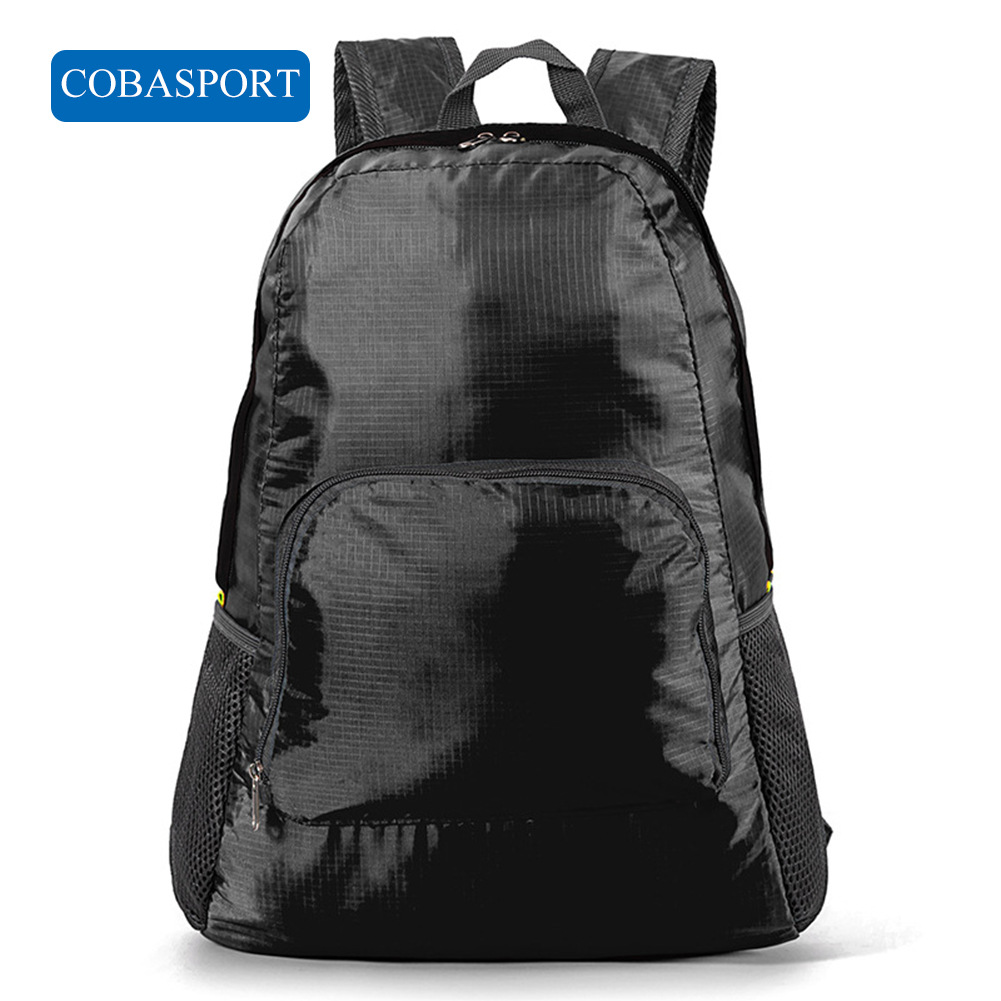 COBASPORT  New Korean Version Outdoor Travel Backpack Toilet Bag Nylon Foldable Shoulder Bag Skiing Bags Sport Bags Black