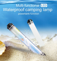 450LM Camping Light IP68 Waterproof for Fishing Hiking 4Mode Dimming Portable 10400mAh Rechargeable Battery LED Outdoor Lamp