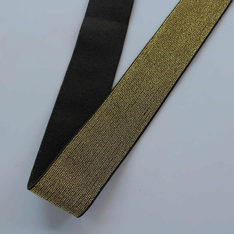 Ouro prata glitter faixas elásticas 10/15/20/25/40mm corda faixa de borracha linha fita costura laço guarnição cintura banda vestuário acessório 1 m