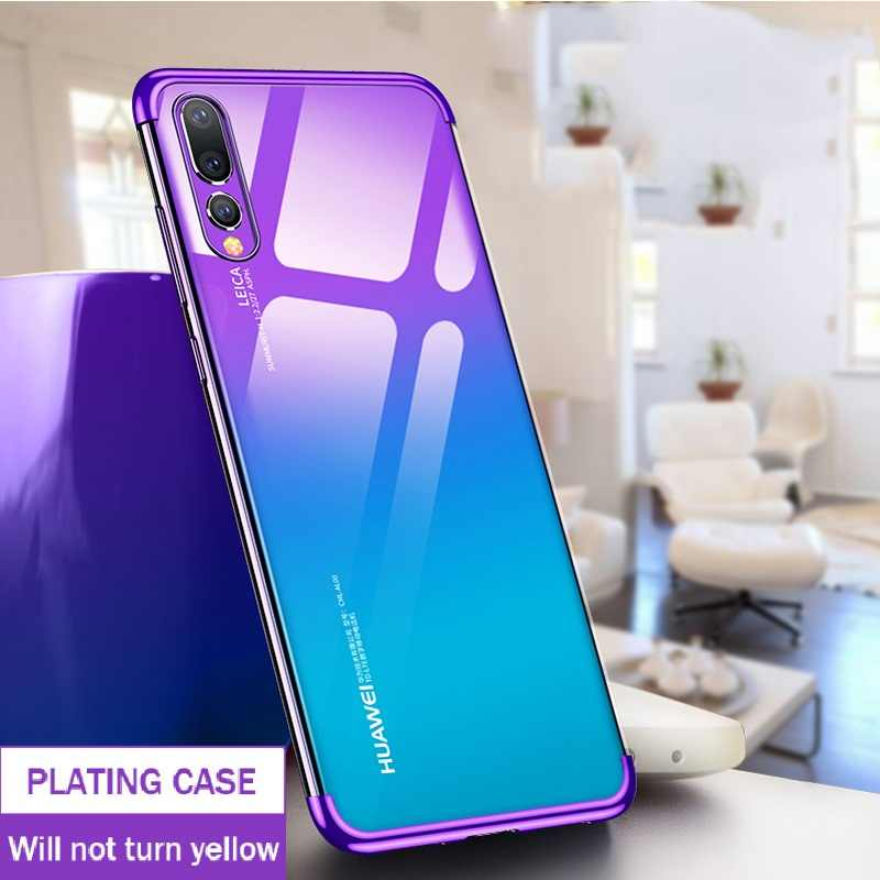 Luxury Soft TPU Silicone Phone Cases For Huawei P20 Pro Nova 3E Back Cover For Huawei P20 Lite Slim Plating EML-L09 L29 ALE-LX1