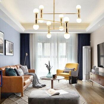 LukLoy Plafond Moderne à LEDs Lampe éclairage Salon Lustres Créatifs Têtes Multiples Simple Chambre Fixations De Luminaire à LED