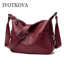 цена на IVOTKOVA High Quality Women Shoulder Bags 2018 New Female Casual Tote Leather Purse & Handbags Lady Bolsa Feminina Crossbody Bag