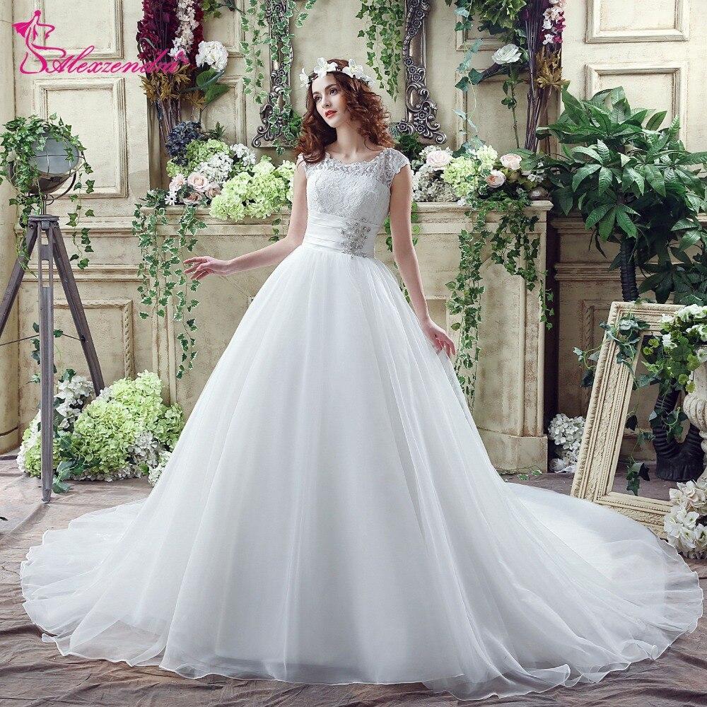 Alexzendra स्टॉक कपड़े Organza बॉल - शादी के कपड़े