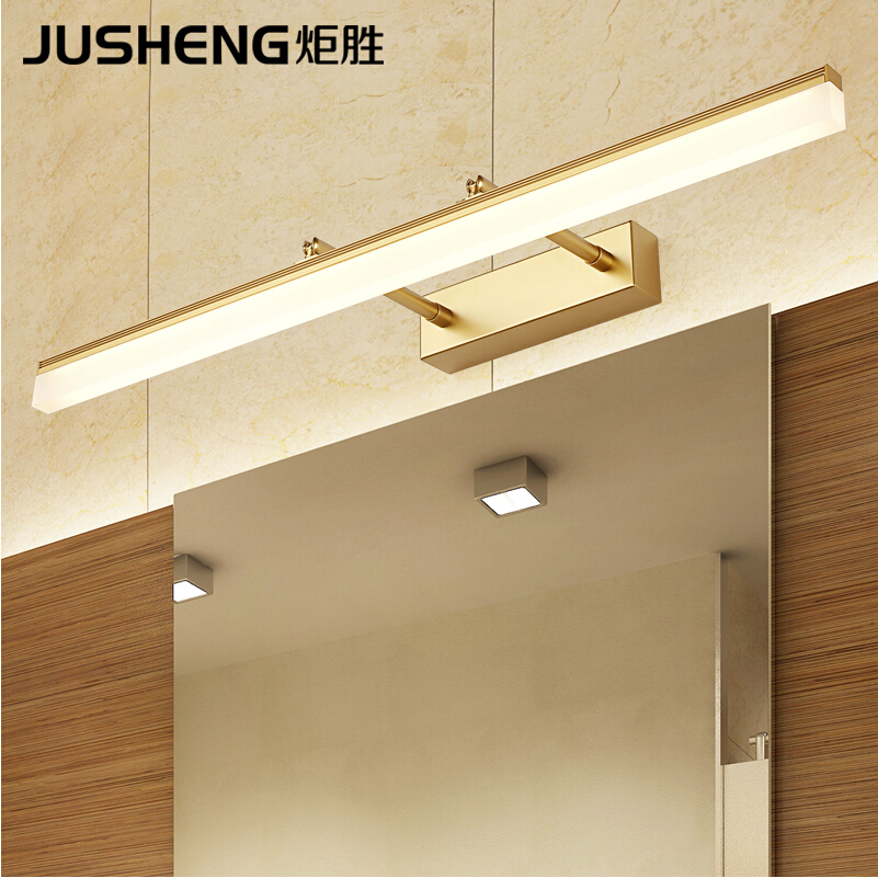 JUSHENG Modern Aluminum LED Wall Lights in Bathroom with Adjustable Beam Angle Over Mirror Sconces Lamps Decor Lighting Indoor