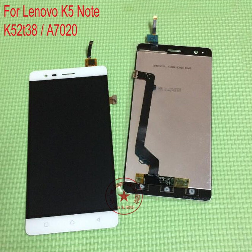 TOP Quality Black White A7020 Full LCD Display Touch Screen Digitizer Assembly For Lenovo Vibe K5 Note K52t38 Phone Replacement аксессуар чехол lenovo k10 vibe c2 k10a40 zibelino classico black zcl len k10a40 blk