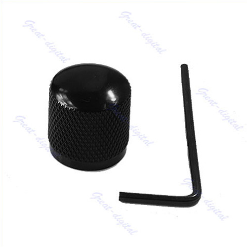 Hot Sell Black Metal Dome Tone Guitar Bass Control Knob For Tele Free Shipping