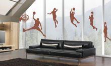 Free Shipping-Basketball Player Wall Decor Vinyl Decal Wall Stickers Removable Kids Art DIY Wall Mural wallpaper стоимость