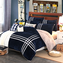 MECEROCK 2016 Autumn And Winter Warm Flannel Bedding Sets Fleece Duvet Cover Fitted Sheet Bed Cloth