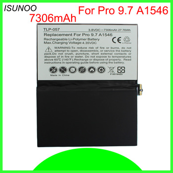 ISUNOO 5pcs/lot Brand New 7306mAh A1664 Replacement Battery For ipad pro 9.7 inch A1673 A1674 A1675 battery