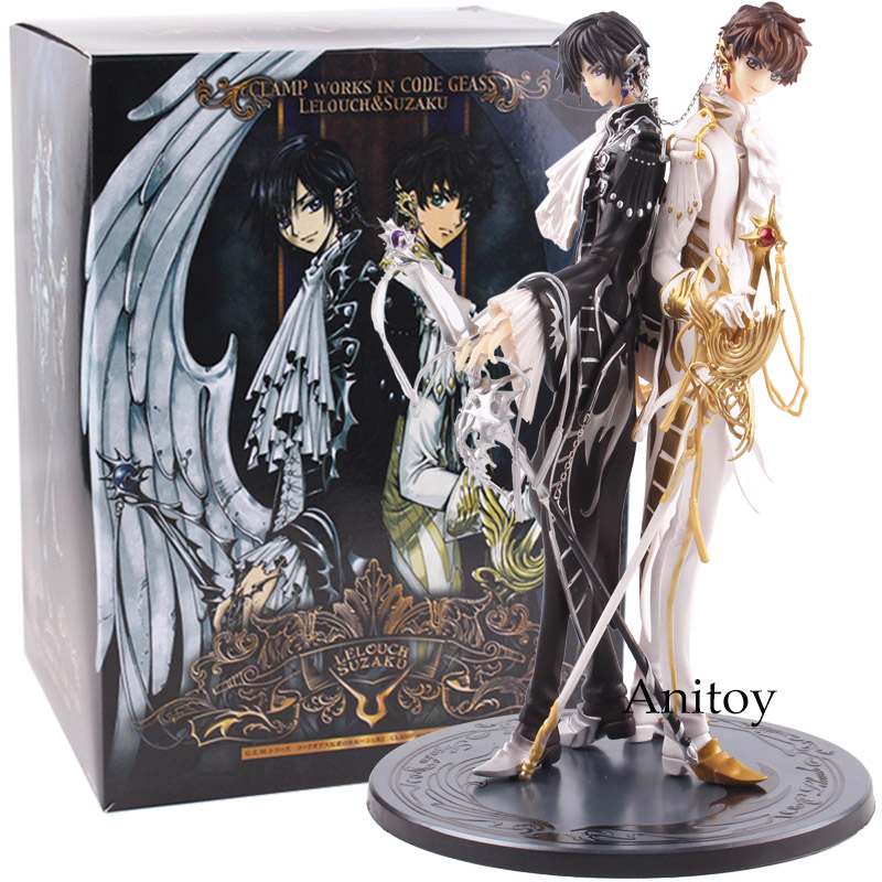 Clamp Works in Code Geass Figure Lelouch & Suzaku Lelouch Lamperouge / Suzaku Kururugi PVC Figurine Code Geass Collectible Toy code geass lelouch of the rebellion beach ball c c anime sexy pvc action figure collectible model toy l1386