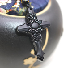 Drop Shipping Natural Black A Obsidian Pegasu Pendant Necklace Jesus Christ For Women Men Fine Crystal Jewelry Gift все цены