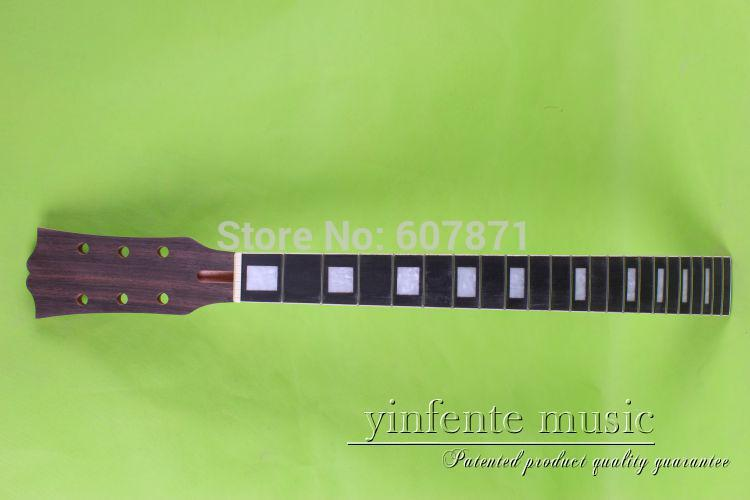 one  72# Guitar neck electric guitar neck Mahogany  rosewood fingerboard   style Square black color 24 frets holt on one electric guitar neck mahogany wood and rosewood fingerboard 171
