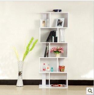 Purple Wood Bookcase Bookshelf Simple Combination Showcase Partition Cabinet Child Antique Frame
