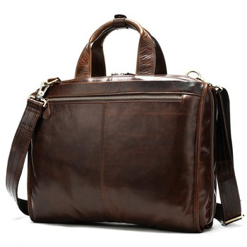 Men Genuine Leather Antique Design Business Briefcase Laptop Document Case Fashion Attache Messenger Bag Tote Portfolio
