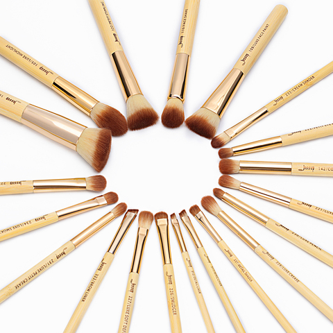 Jessup Brand 20pcs Beauty Bamboo Professional Makeup Brushes Set Beauty tool Make up Brush T145 & Cosmetics Bags Women Bag CB002 Islamabad