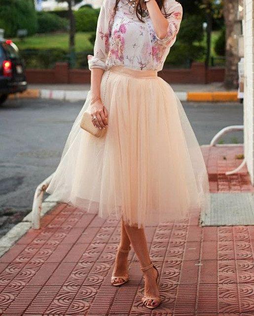 7042f88acf9 Livraison gratuite 55 cm rose 5 couches femmes Tulle jupes pour fête de  mariage fiançailles Tutu
