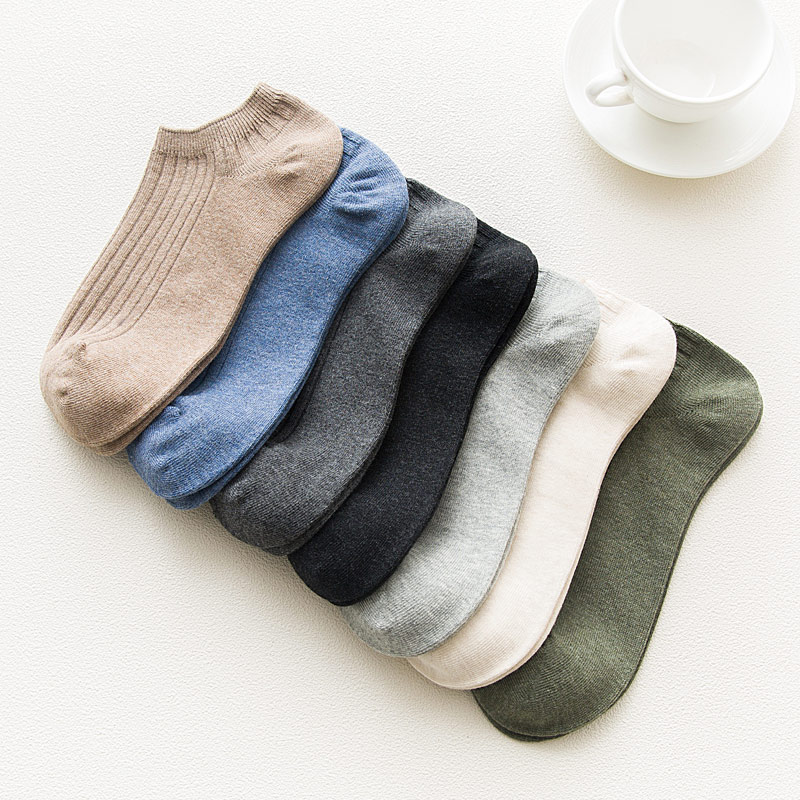 100% Cotton Men Mesh Ankle Dress Socks Soft Summer Novelty Thin Male Short  Boat Socks Cool Fashion Color 1pair