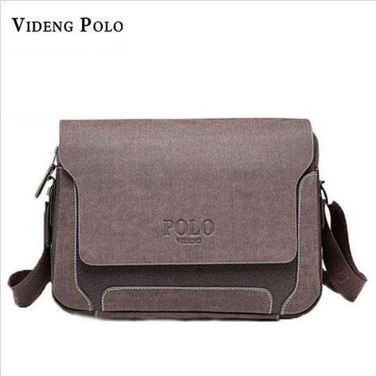 2017 Famous Brand Videng Polo Handsome Men Messenger Bag Canvas Men Handbag Summer and Autumn Bags Oxford Men Shoulder Bag M229