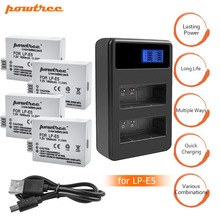 4x bateria LPE5 LP-E5 LP E5 Battery +Dual Charger for For Canon 450D 500D 1000D Kiss X2 X3 F Rebel XSi Xli XS L15 цена