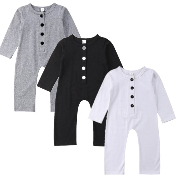 acd6feab2b75 3 Color Newborn Toddler Baby Girl Boy Clothes Romper Long Sleeve ...