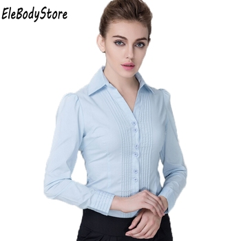Body Shirt Women Blouses Blusas Blusa Casual Blouse Shirts 2018 White Black Blue Long Sleeve Tops Bodysuit Clothing