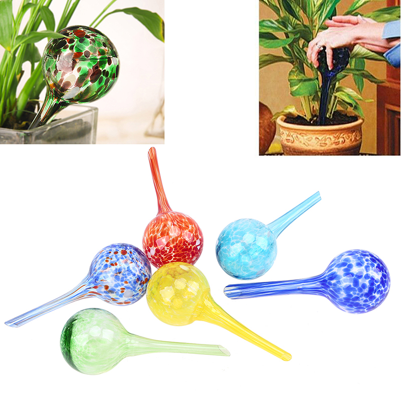 WHISM 100ml Self Automatic Drip Irrigation Ball Lazy Watering Device Camouf Bulbs Globes Plant Flowers Bonsai Waterer For Garden