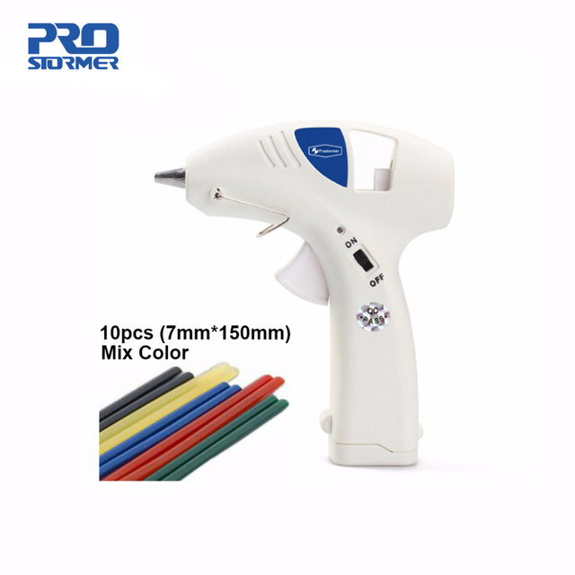 Prostormer 10W Hot glue gun Professional High Temp Heater Hot Glue Gun Repair Heat tool Optional 10pcs Hot Melt Glue Sticks