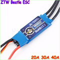 4 pçs/lote ZTW Beatle Series AL 20A 30A 40A ESC 5 V / 3A BEC para 400 - 500 classe de asa fixa Copters