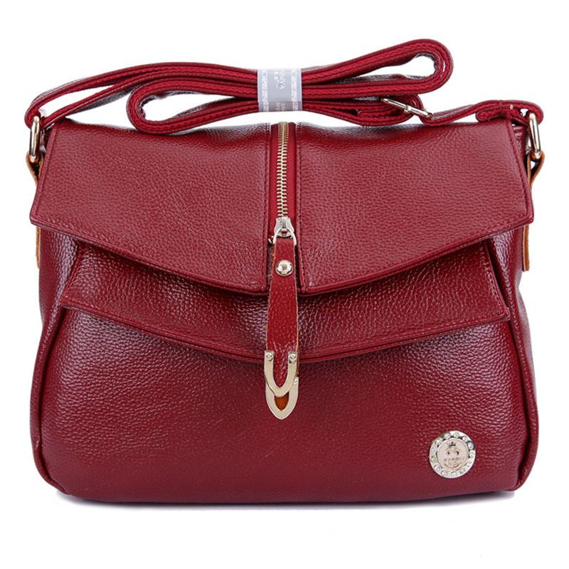High Quality Genuine Leather Women Handbags Fashion Cowhide Womens
