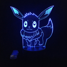 Pokemon Night Light 3D Lamp