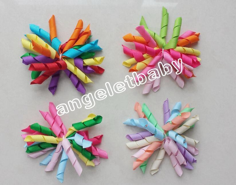 Rainbow Suzie Q Korker Hair Bow