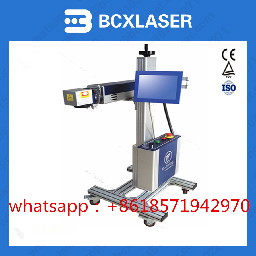 MAC Factory price production line Flying fiber lazer marking laser coding machine for date / serial number / barcode