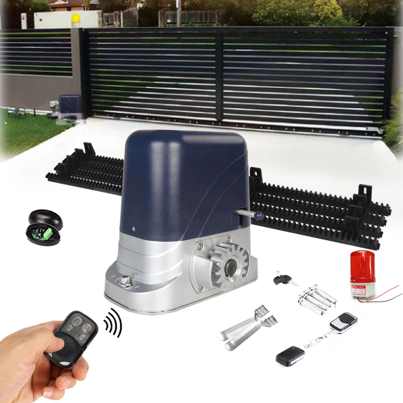 Automatic Sliding Gate Motor AC Engine Sliding Gate Controller with 4m Nylon racks kits Optional for home gates