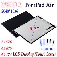 WEIDA LCD 9.7 For iPad Air LCD A1474 A1475 A1476 Display Screen Without Touch Replacement for iPad air